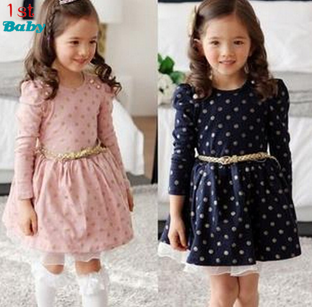 2016 new Girls dresses for baby children Purple pink roses New Year princess Toddler Girl Dress, Kid Brand clothes