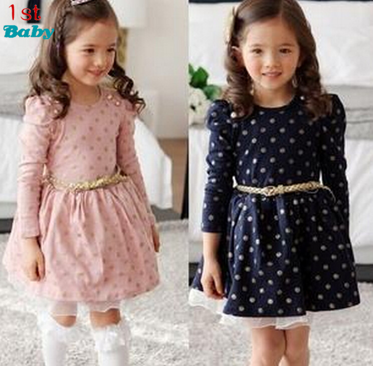 2016 new Girls dresses for baby children Purple pink roses New Year princess Toddler Girl Dress, Kid Brand clothes(China (Mainland))