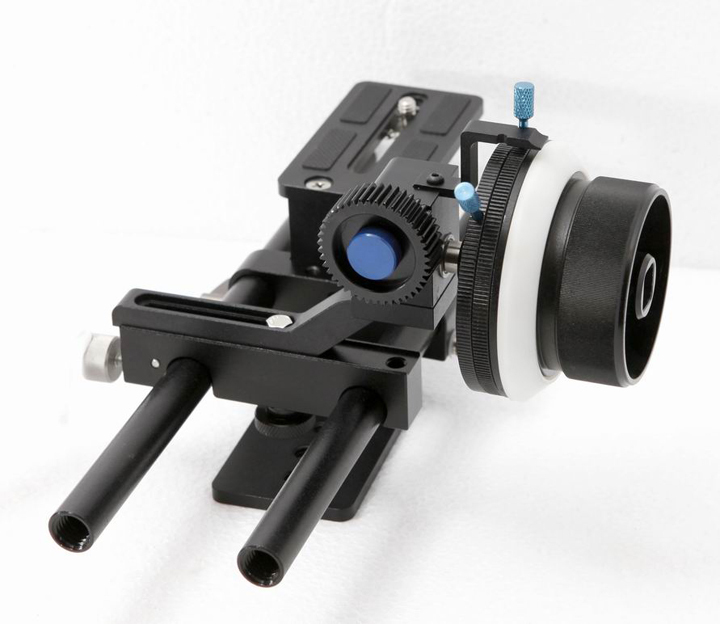 F07079 Follow Focus + Rail Rod Support System Baseplate Mount Simple Kit for 5D2 Camera Photography + US Freeshipping(China (Mainland))