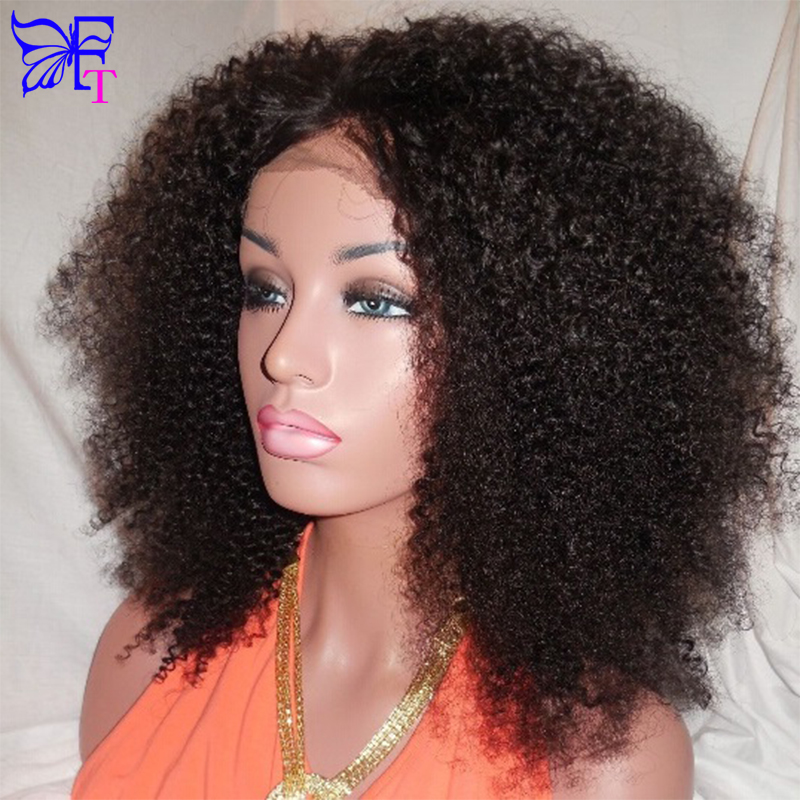 Best 150 Density Human Hair Full Lace Wigs Brazilian Kinky Curly Full Lace Front Wigs Glueless Curly Virgin Hair Lace Front Wig