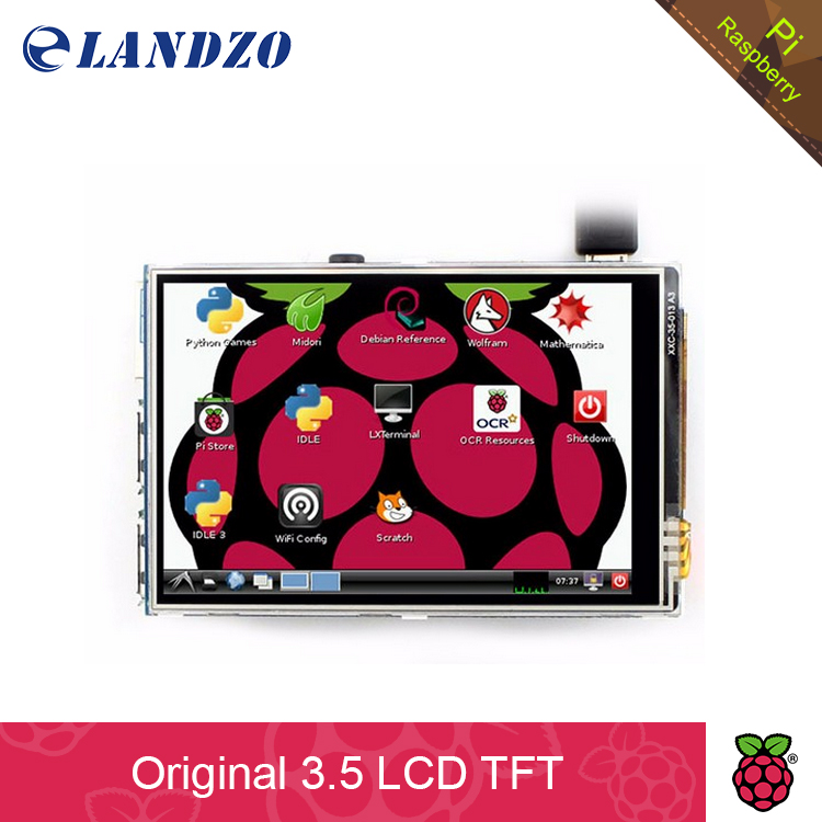 "2016 Original 3.5"" LCD TFT Touch Screen Display for Raspberry Pi 2 Model B Board + Stylus(China (Mainland))"