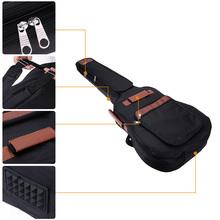 "600D Nylon 41"" Guitar Backpack Widened Shoulder Straps 8mm Cotton Padded Gig Bag Case with Pockets Shock Proof Rubber(China (Mainland))"