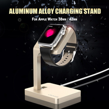 Aliexpress New USAMS Aluminum Alloy Charging Stand Holder Dock Station for Apple Watch 38mm / 42mm(China (Mainland))