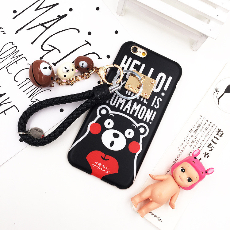 Cute Cartoon Bear kumamon Hanshin Soft TPU Luxury Brand Case for iphone 6 6s Plus Phone Case Cover Shell Cell Phone case