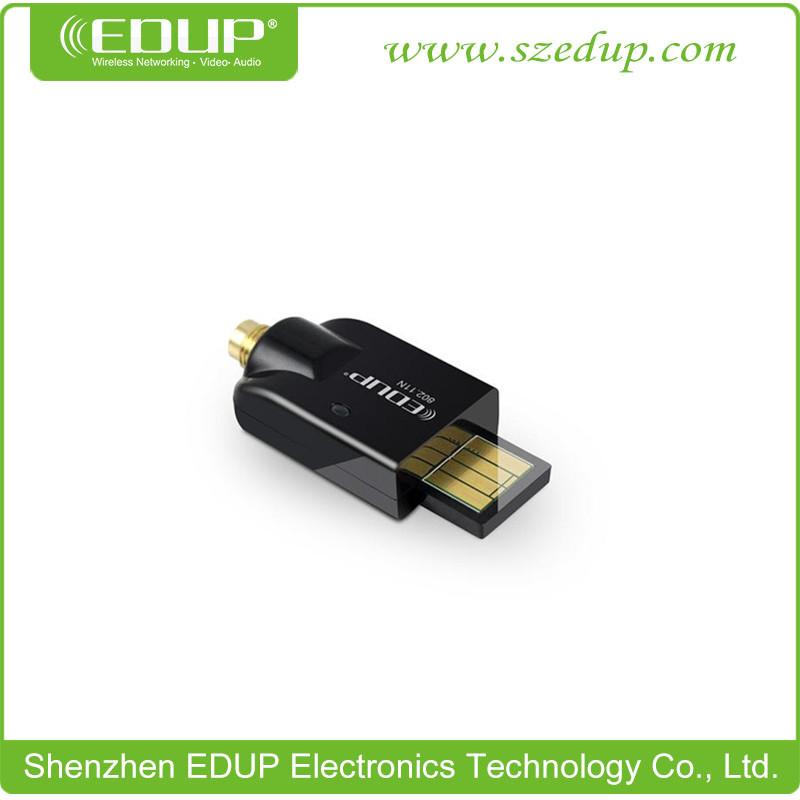 EDUP-MS150N 802.11b/g/n 150Mbps mini high power Wireless USB LAN network card WiFi adapter external antenna ralink5370 10pcs(China (Mainland))