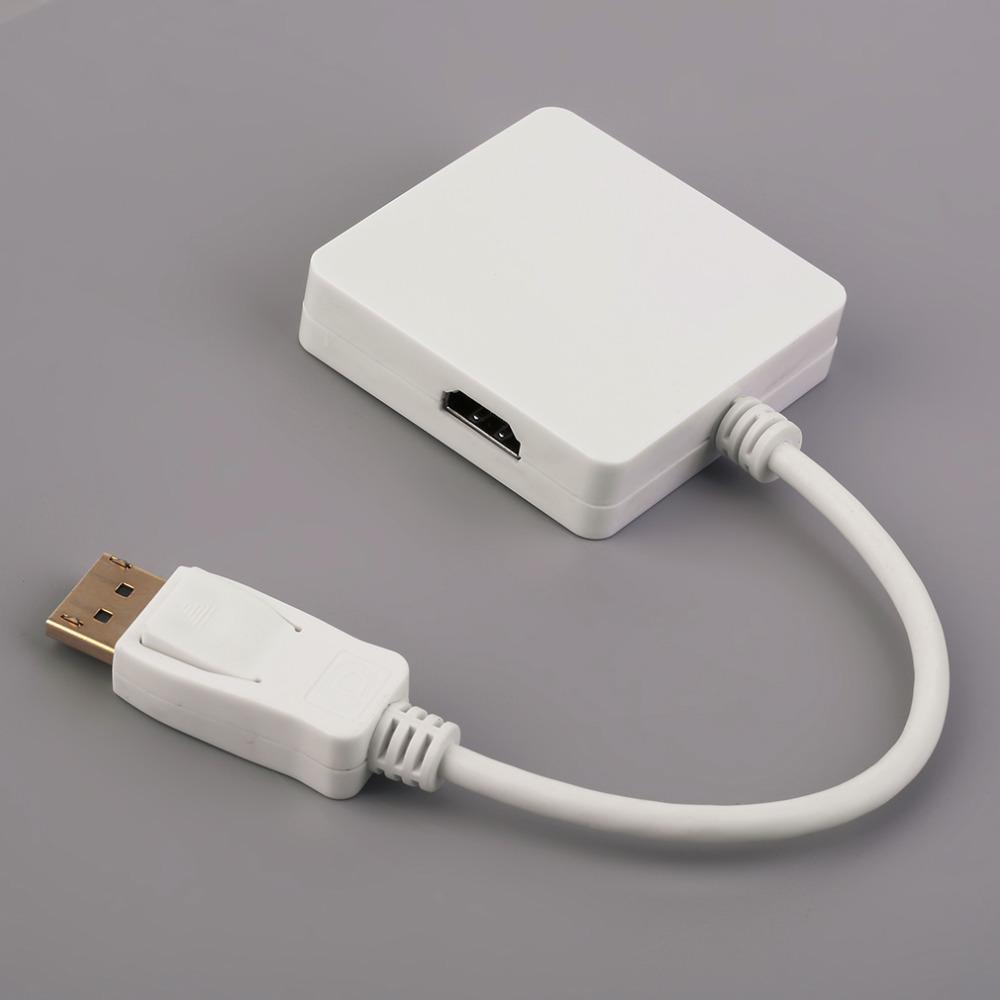Professional 3 In 1 Mini Display Port DP Male To HDMI DP DVI Female Converter Switcher 1080p OZDP31 White(China (Mainland))
