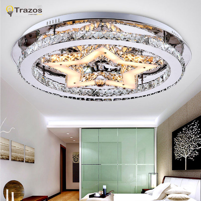 Indoor LED Ceiling Lights for home living room decor lighting lustres de teto crystal star Christmas party surface mount lamp(China (Mainland))
