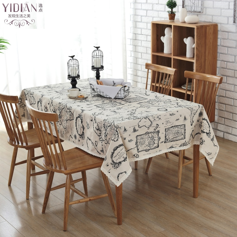 Online get cheap world map tablecloth - Nappe table rectangulaire ...