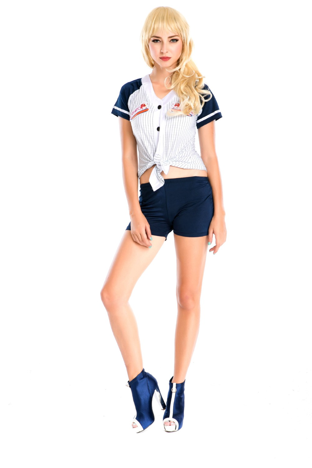Fantasia Baseball Uniform Cosplay Sexy Women Blouse With Shorts Table Tennis Player Stage Halloween Costumes Deguisement Adultes(China (Mainland))