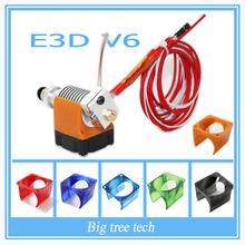E3D V6 3D Print J-head hotend &Single Cooling Fan for 1.75mm/3mm Direct Filament Wade Extruder 0.3/0.4/0.5mm Nozzle longdistance