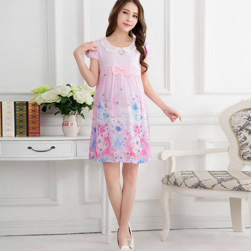 fashion gradient floral maternity pink baby shower maternity dresses