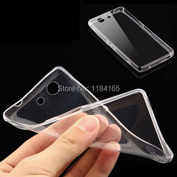 0.3mm Super Slim Soft Skin Gel Silicone TPU Case for Sony Xperia Z3 Mini / M55w / Xperia Z3 Compact Cover(China (Mainland))
