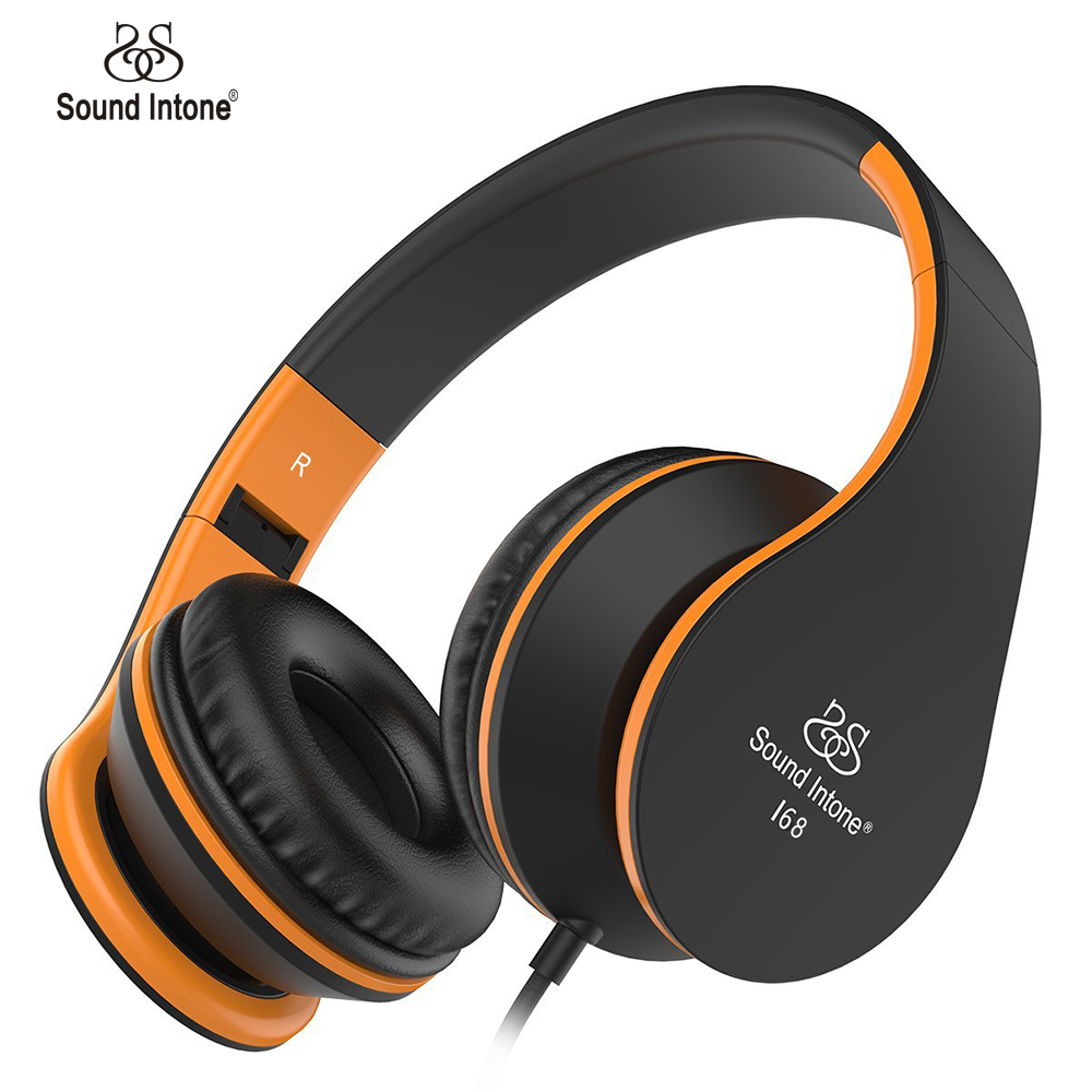 Sound Intone I68 Headphones with Microphone and Volume Control Foldable Headset for Adults for iPhone Android Smartphones(China (Mainland))