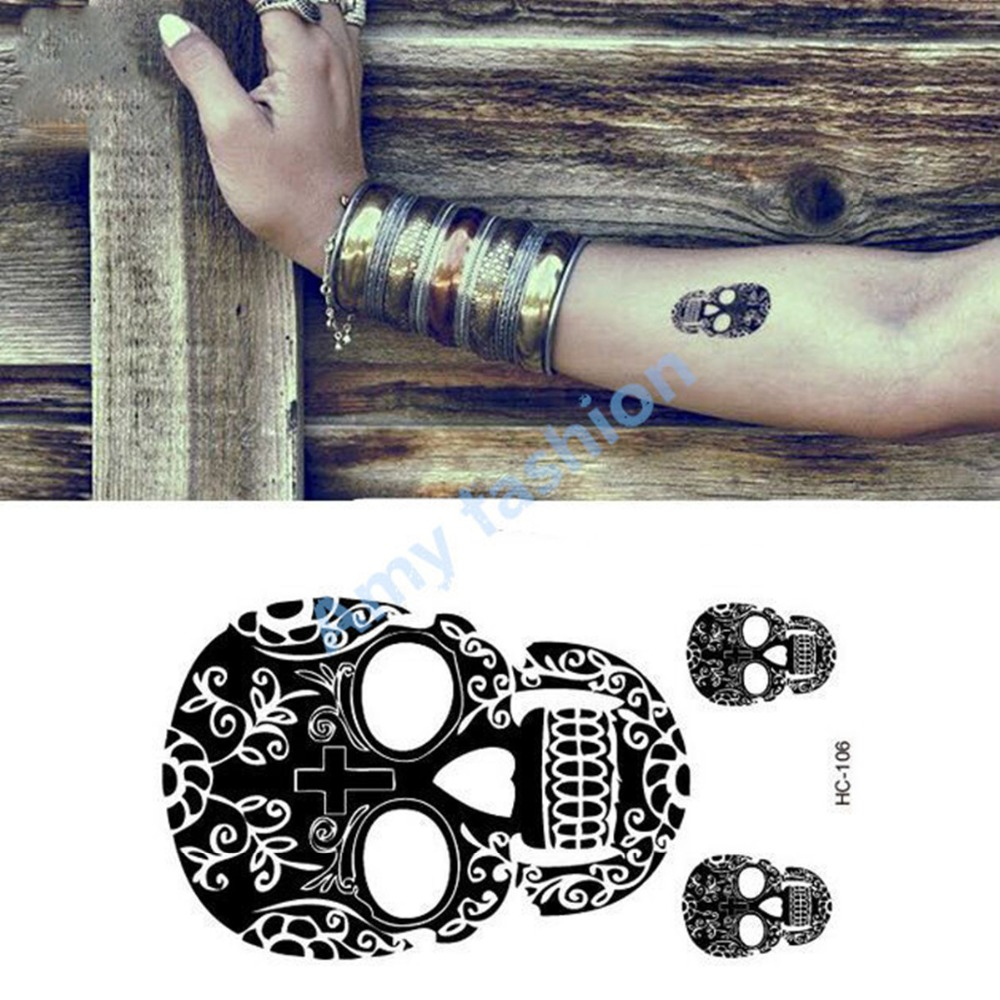 skull bracelet tattoo reviews online shopping skull bracelet tattoo reviews on. Black Bedroom Furniture Sets. Home Design Ideas