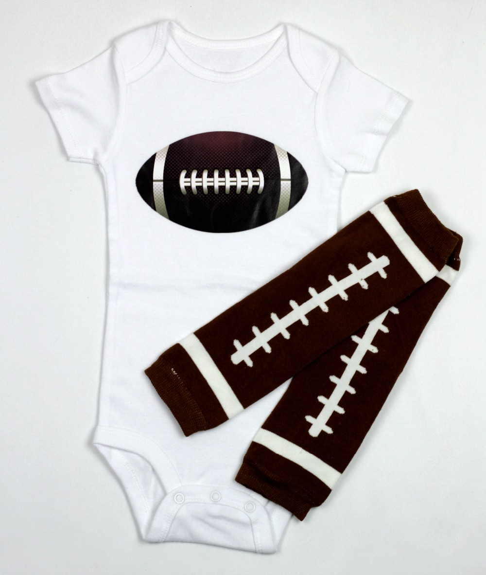 100%cotton baby body suit+leg warmer 2pcs set toddler outfit rugby football costume romper creative clothing 1year birthday gift(China (Mainland))
