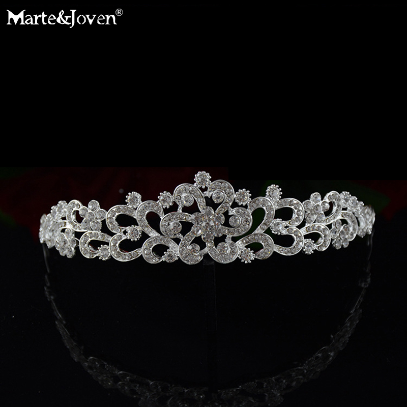 Hot Sell Geometric Rhinestone Cute Flower Tiaras Crystal Bridal Hair Accessories Bride Headband Silver Plated Hairband Jewelry(China (Mainland))