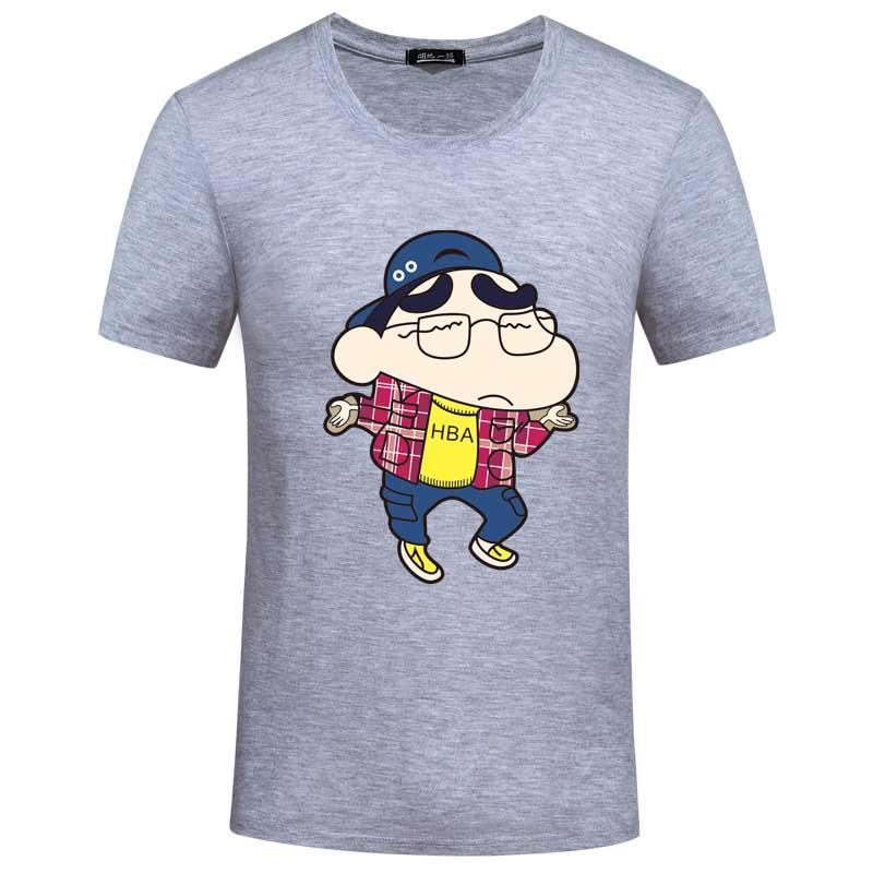 Men's Tops Tees 2016 funny Cartoon graphic printed Lycra cotton o neck short sleeve t shirt men fashion trends tshirt size S-6XL(China (Mainland))
