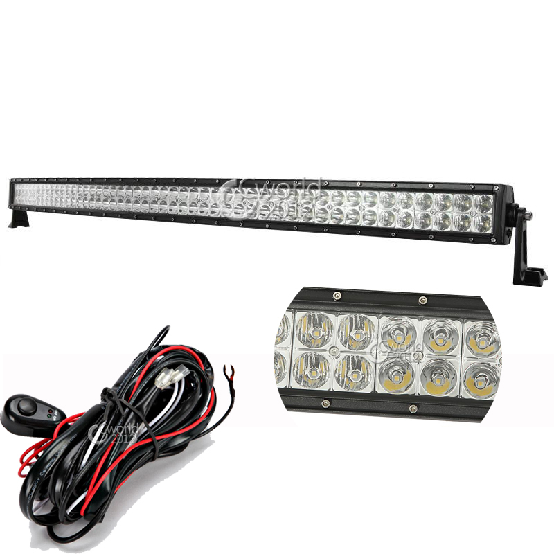 50 Inch 288W Curved LED Work Light Bar 12V Spot Flood Lamp Combo Car ATV Trailer 4X4 Truck Off Road Roof Auxiliary Driving Light(China (Mainland))