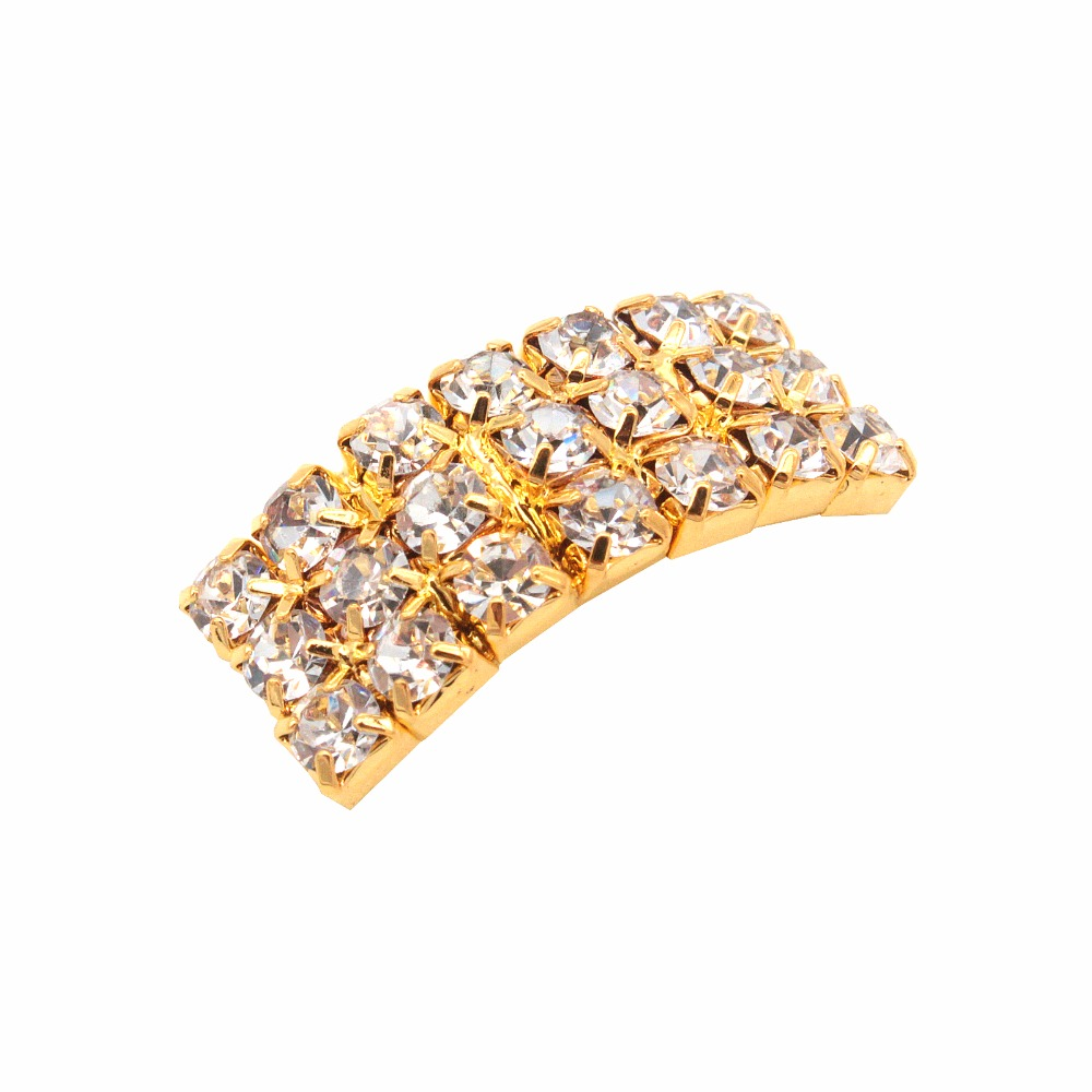 Hair bow button accessories - Acrylic Gold Rhinestone Buckle Button Rectangle Rhinestone Bow Button Beautiful Hair Decoration Wedding Accessories