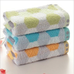 Free shipping ! wholesale low price 34*76cm 5pcs/lot 100% cotton absorbent soft towel ,face cloths,washer towel,hand towel