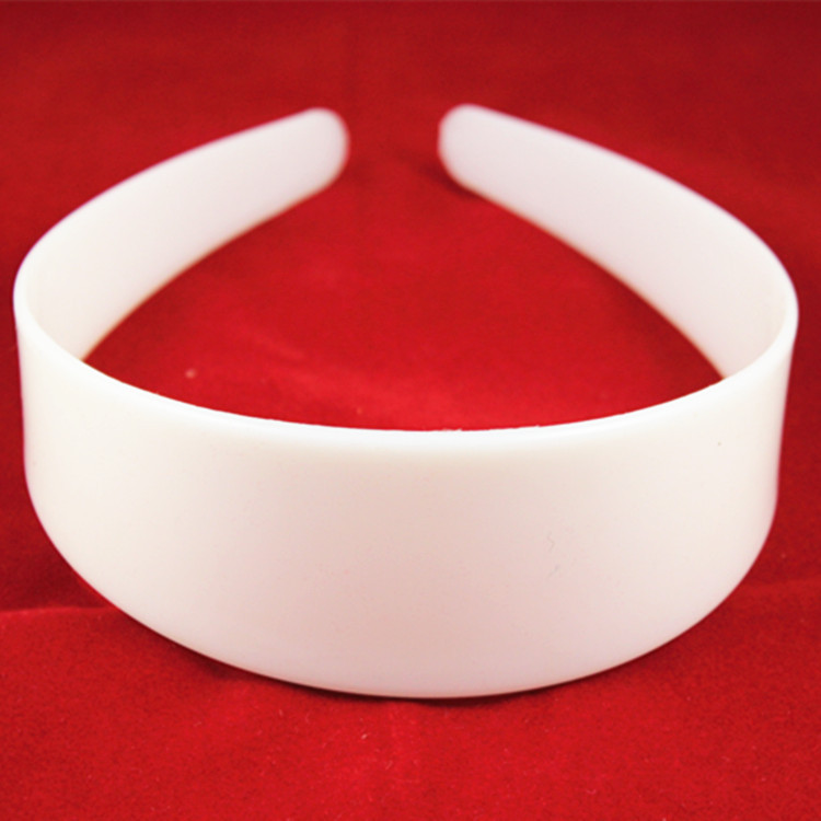 20pcs 4cm Width Wholesale New White Plastic Hair Bands Wide Simple Style Hair Hoops Head Bands for DIY(China (Mainland))