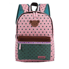 2016 Children School Bags Cute Bear Dot Star Mochila Infantil Escolar Girls Boys Backpack Kid Girl School Book Shoulder Bag 351t(China (Mainland))