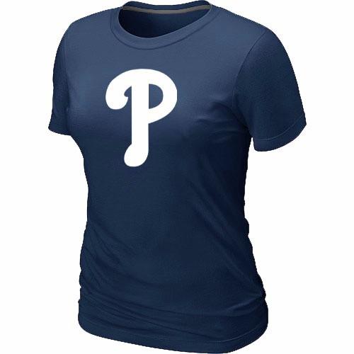 MLB Philadelphia Phillies Heathered D.Blue Women's Nike Blended T-Shirt