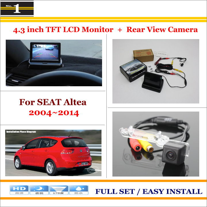 For SEAT Altea 2004~2014 - Car Reverse Rear Camera + 4.3 TFT LCD Monitor = 2 in 1 Parking System<br><br>Aliexpress