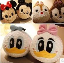Super cute 1pc 30cm cartoon Donald Duck Daisy chipmunk rose plush pillow cushion stuffed toy children Valentine's Day gift