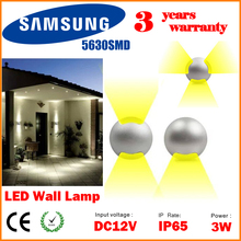 DHL Mini LED Outdoor Recessed Wall Light Surface Mount Sconce Porch Lights Exterior Wall Lighting 12V 3W IP65 Patio Floor Lamp(China (Mainland))