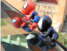 2pcs new 2014 Cute Spider-Man action figures Spider Man with chucks toys Action Figure Collection Model Toy Free Shipping(China (Mainland))
