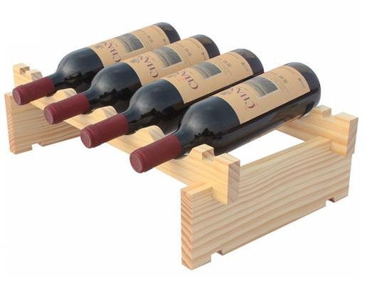Wooden wine rack diy assemble wine shelf wood holders for Wine bottle shelf diy