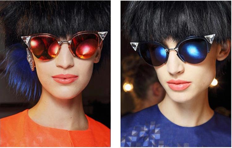 2015 new Summer brand gafas de sol mujer Crystal cat eye Sunglasses Women Fashion Sun glasses Vintage lunette de soleil Sunglass(China (Mainland))