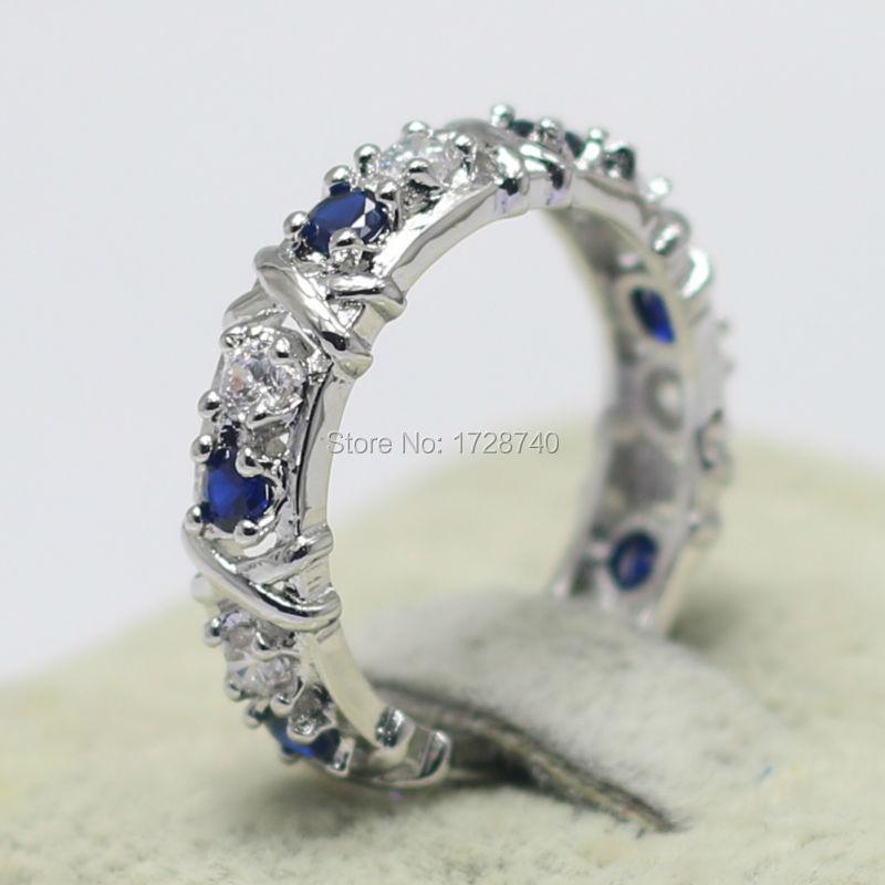 Sz 5-10 Victoria Wieck Eternity Jewelry Sapphire simulated diamond Silver 10k White Gold Filled Women Engagement Wedding Ring(China (Mainland))