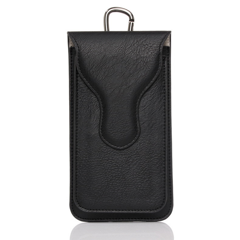 NEW Double Layer Design Leather Belt Pouch Men Waist Outdoor Bag,Back for iPhone6 6s Plus Note5 4,Front for Samsung S5 S6 Case