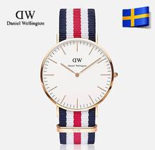 2015 famosa marca de lujo estilo Daniel Wellington relojes DW Reloj para hombre Nylon correa Reloj del cuarzo Reloj Reloj Montre 40 mm