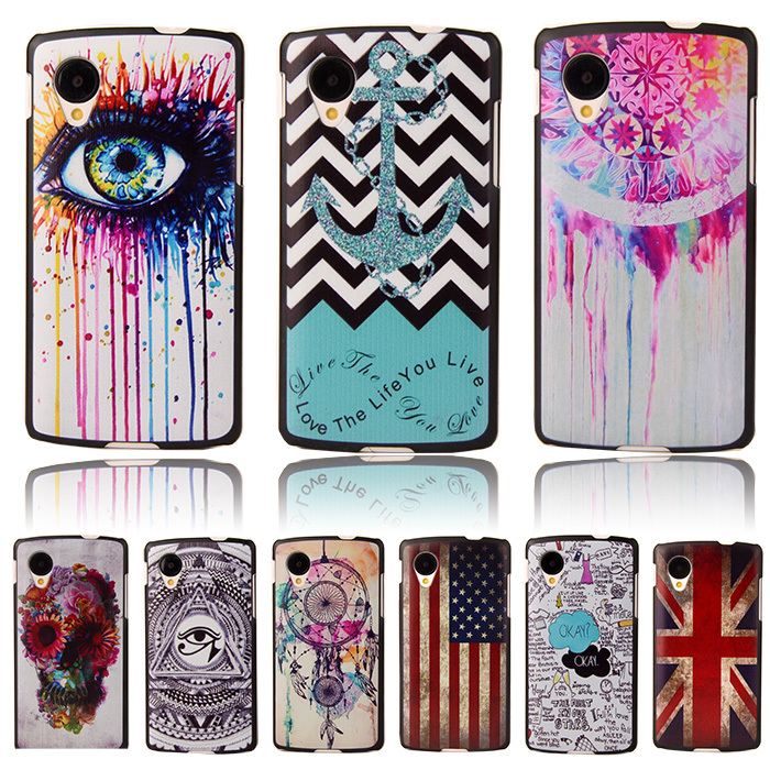 Anchor Tribal Owl Cartoon Pattern Matte Back Plastic Case for LG Google Nexus 5 E980 D820 D821 Cell Phone Protective Cover Bags(China (Mainland))