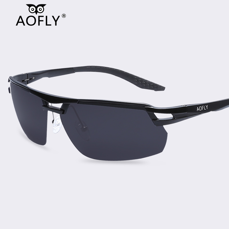 AOFLY Men Polarized Sunglasses Aluminum Magnesium Sports Men Driving Sun Glasses Male HD Polaroid Sung glasses Original Brand(China (Mainland))