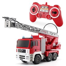 1/20 4 channels model Remote Control Rc electric construction truck toys ,Rc fire engine,fire trucks, fire pumper(China (Mainland))