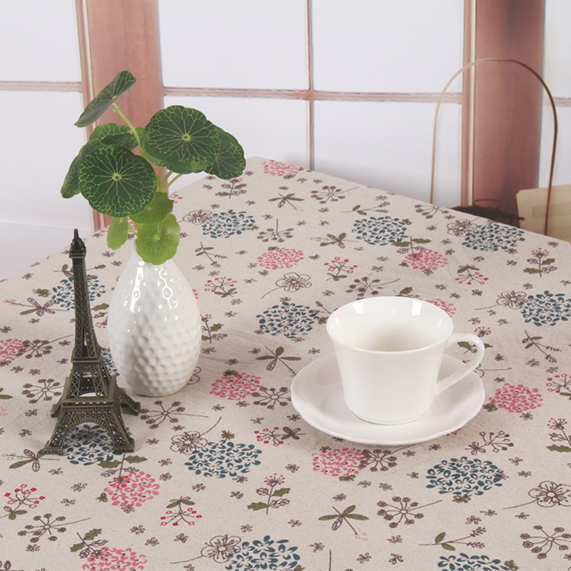 Pastoral Daisy design cotton linen tablecloth printed table cover Customization any size table cloth 2 designs free shipping(China (Mainland))