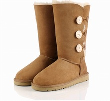 australia high snow women boots bota femininas zapatos mujer botte chaussure femme leather autumn suede winter boots women shoes(China (Mainland))