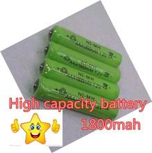 Hot Sale 14pcs/lot High Power AAA 1800MAH/1.2V  Rechargeable NiMH Battery 1800 mAh New Batteries