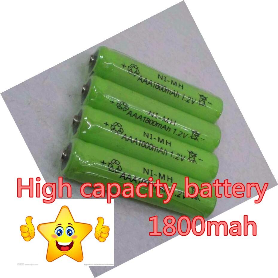 Hot Sale 14pcs/lot High Power AAA 1800MAH/1.2V Rechargeable NiMH Battery 1800 mAh New Batteries Free shipping(China (Mainland))