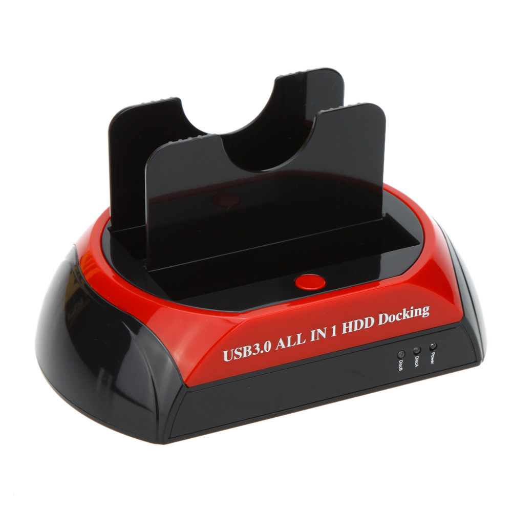 """High Quality HDD Docking Dual Double All in 1 2.5""""/3.5"""" IDE SATA USB 3.0/2.0 Dock Station 70MB/S Cloning 5GB/s Transfer Speed(China (Mainland))"""