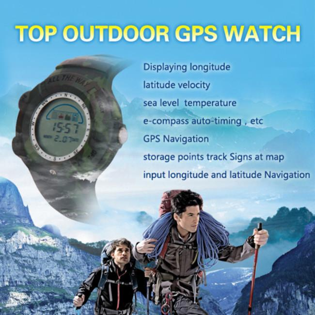 Hot outdoor sports GPS watch waterproof shockproof automatically when the temperature elevation GPS navigation full version(China (Mainland))