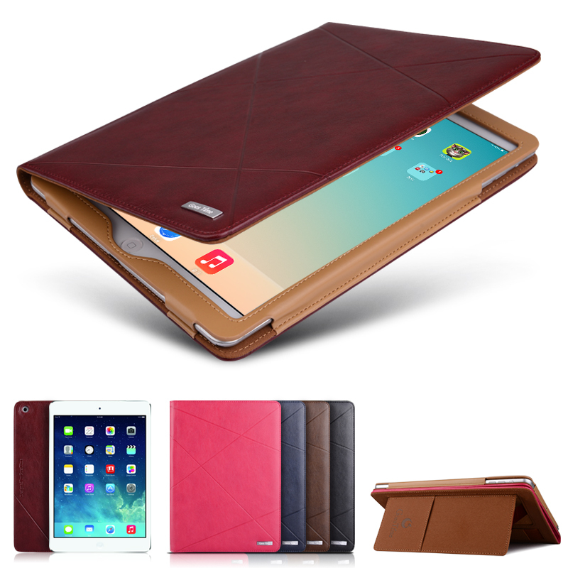 Luxury Leather Case For iPad Air Flip Slim Stand Case For iPad 5 Ultra thin Leather Cover for iPad Air Full Body Protect Case(China (Mainland))
