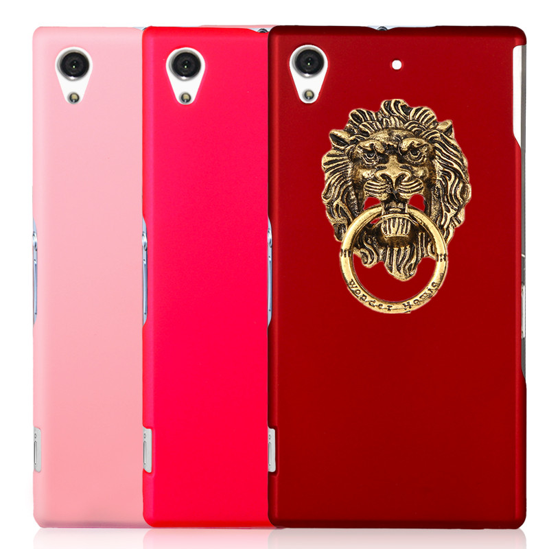 New Arrival Fashion Hard Plastic Phone case Ring Stand Lion modelling Sticky Mobile Holder For Sony Xperia Z1 L39h C6906 C6903(China (Mainland))