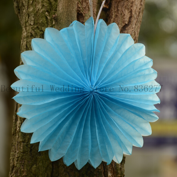 8'' Inch 20cm 20pcs Decorative Foldable Tissue Paper Fan Flower Craft Wedding Garland Modern Party Hanging Decoration(China (Mainland))