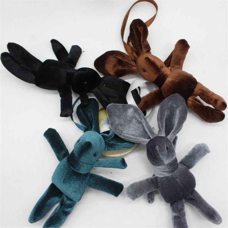2017 New Special Rabbit Bunny Plush Toy Bag Phone Rabbits Dolls Pendants DIY Wishing Flower Bouquet Materials 15cm 10pcs (6)