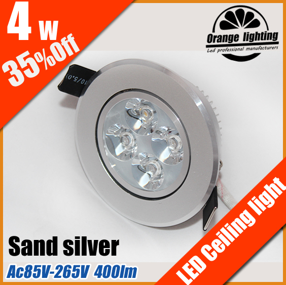 4W led down lamp CE&RoSH AC85V-265V 400lm Epistar chip energy conservation downlight new products free shipping DHL 16p/lot(China (Mainland))